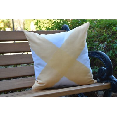 Crider X Marks the Spot Geometric Print Indoor/Outdoor Throw Pillow Color: Yellow, Size: 18 x 18