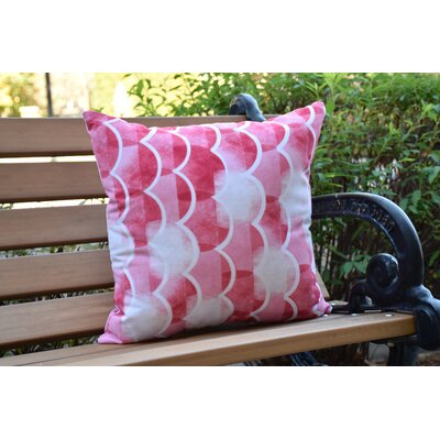 Crider Geometric Print Indoor/Outdoor Throw Pillow Color: Red, Size: 18 x 18