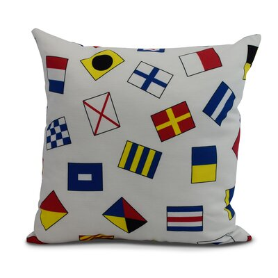 Cayer Multi All Over Toss Larger Print Indoor/Outdoor Throw Pillow Size: 18 x 18