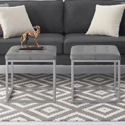 Bismark Ottoman Upholstery: Gray