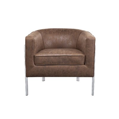 Cosner Armchair Upholstery: Brown