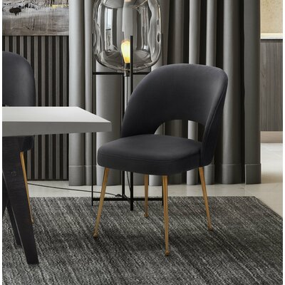 Modern Side Chair Upholstery: Dark Gray