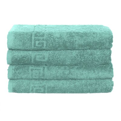 2 Piece Hand and Bath Towel Set Color: Turquoise