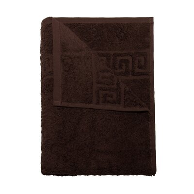 2 Piece Hand and Bath Towel Set Color: Dark Brown