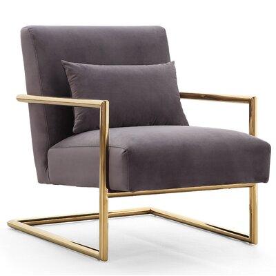 Deeksha Velvet Armchair Upholstery: Gray