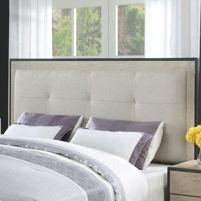 Belmar Upholstered Panel Headboard Size: Queen