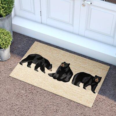 Buckeys Bears Hand-Tufted Natural Indoor/Outdoor Area Rug Rug Size: 18 x 26