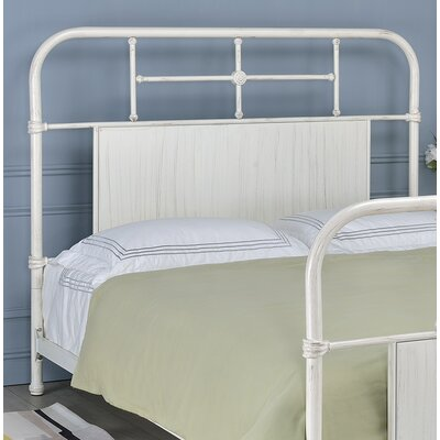 Castellanos Metal Open-Frame Headboard Size: Queen, Color: Antique White