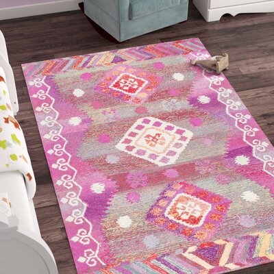 Kermit Hand-Tufted Pink Area Rug Rug Size: Rectangle 5 x 8