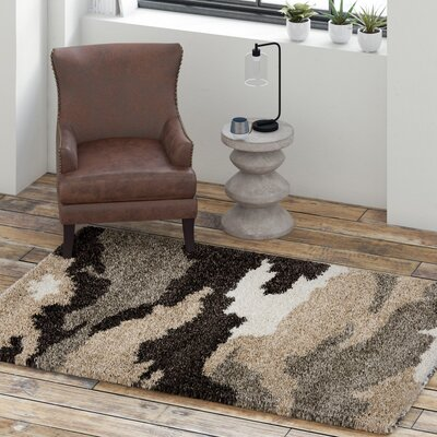Hanover Beige/Brown Area Rug Rug Size: Rectangle 86 x 12