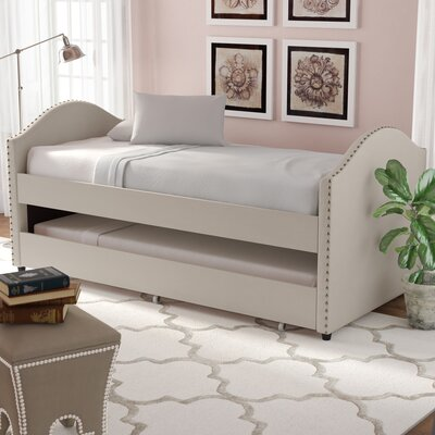 Rubenstein Daybed with Trundle Bed Finish: Beige