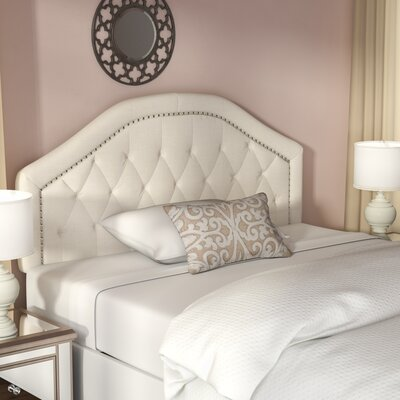Bridges Upholstered Panel Headboard Upholstery: Ivory, Size: Twin