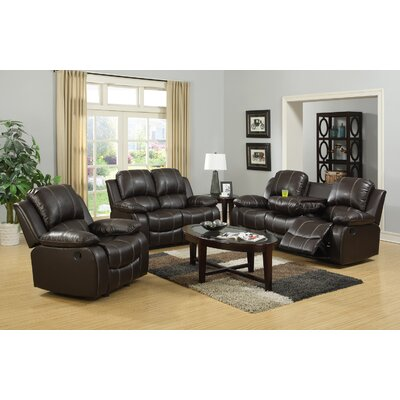 Ugalde 3 Piece Living Room Set Upholstery: Expresso