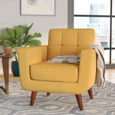 Lester Armchair Upholstery: Naples Yellow