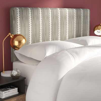 Eden Stripe Box Seam Upholstered Panel Headboard Size: Queen
