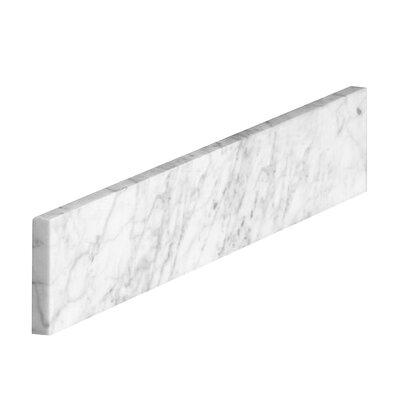 Marble Carrara Sidesplash Size: 4 H x 20 W x 0.78 D