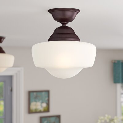 Bolden 1-Light Semi-Flush Mount Finish: Brushed Bronze