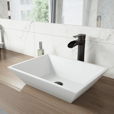 Vinca Matte Stone Vessel Bathroom Sink