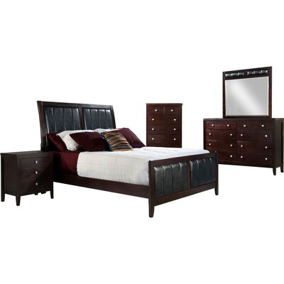 Frakes Sleigh 3 Piece Bedroom Set Bed Size: King