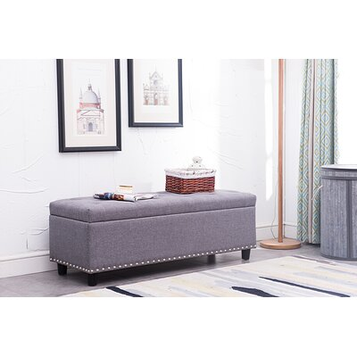 Mulkerins Storage Ottoman Upholstery: Gray