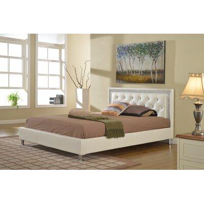 Kikkerland Queen Platform Bed Color: White