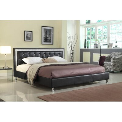 Kikkerland Queen Platform Bed Color: Black