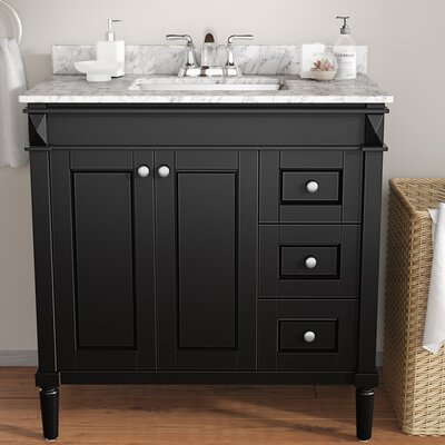 Millfield 36 Single Vanity Set Base Finish: Espresso