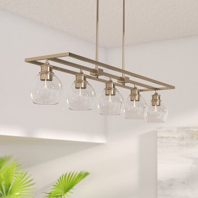 Maria 5-Light Kitchen Island Pendant Finish: Aged Brass