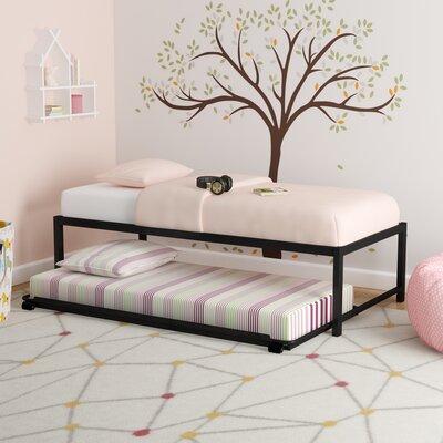 Josef Twin Platform Bed with Pop Up Color: Black