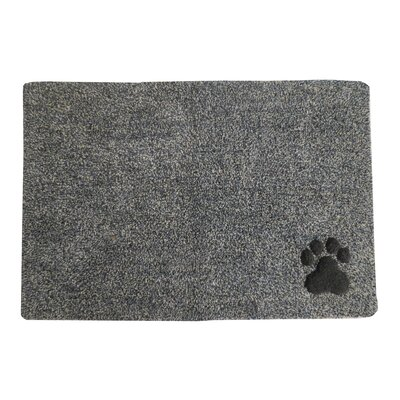 Ombre Paw Tufted Pet Mat/Pad Color: Black