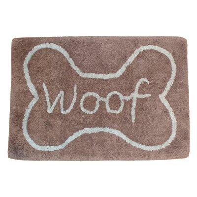 Woof Bone Tufted Pet Mat/Pad Color: Gray/Aqua