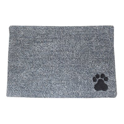 Ombre Paw Tufted Pet Mat/Pad Color: Slate