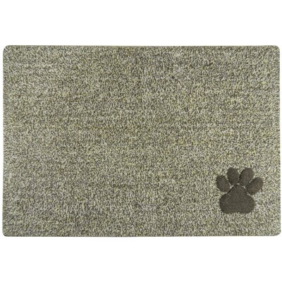 Ombre Paw Tufted Pet Mat/Pad Color: Gray