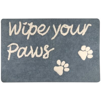 Wipe Your Paws Tufted Pet Mat/Pad Color: Slate