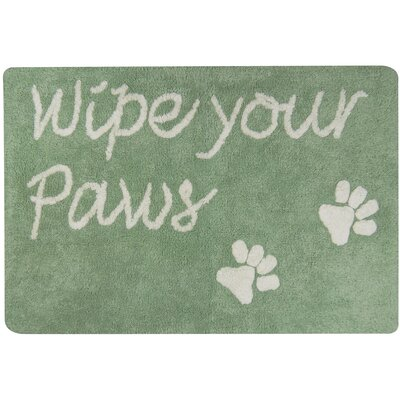 Wipe Your Paws Tufted Pet Mat/Pad Color: Smoke Green