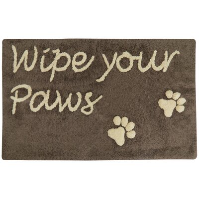 Wipe Your Paws Tufted Pet Mat/Pad Color: Woodland/Linen