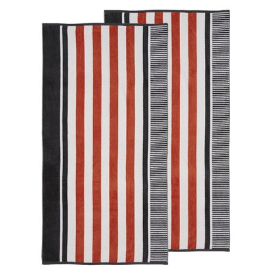 Oversized Striped Beach Towel Color: Castlerock
