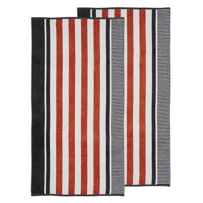 Oversized Striped Beach Towel Color: Castlerock