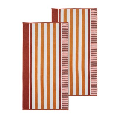 Oversized Striped Beach Towel Color: Sorbert