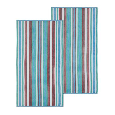 Rope Textured Beach Towel Color: Aqua