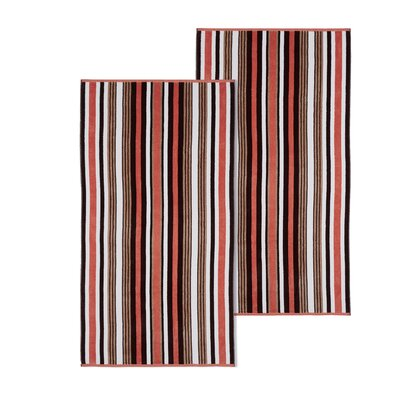 Rope Textured 2 Piece Beach Towel Set Color: Emberglow