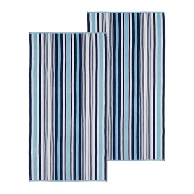 Rope Textured 2 Piece Beach Towel Set Color: Sky Blue