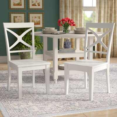 Chesterton Solid Wood Dining Chair Color: White