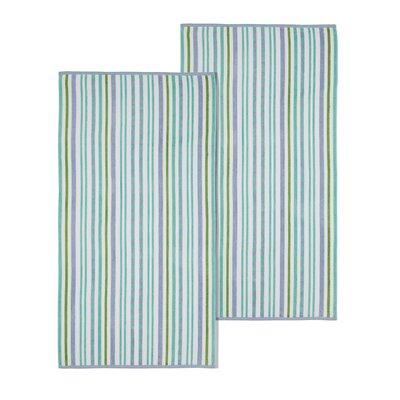 Stitch Beach Towel Color: Blue/Violet