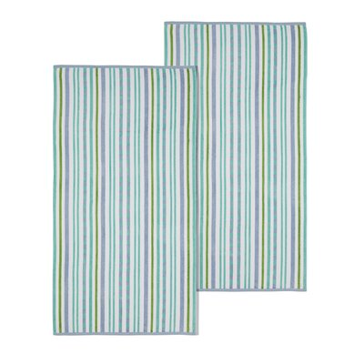 Stitch Striped Beach Towel Color: Blue/Violet