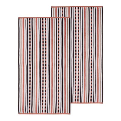 Stitch Striped Beach Towel Color: Emberglow