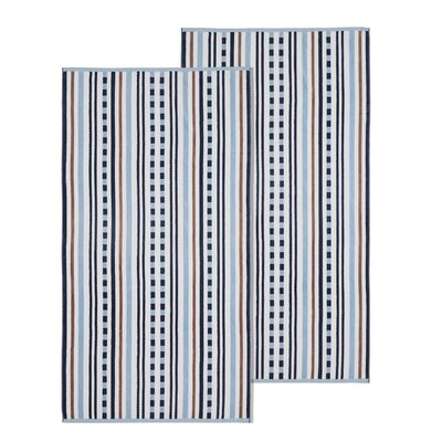 Stitch Striped Beach Towel Color: Morning Blue