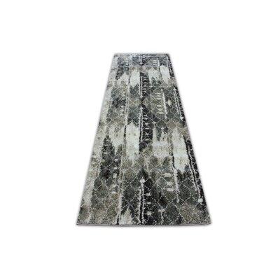 Duplantis Hallway Gray/Black Area Rug
