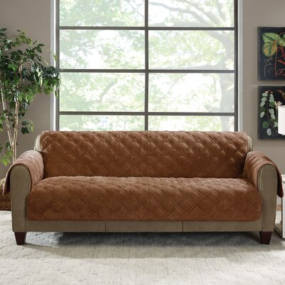Plush Comfort Sofa Slipcover Color: Brown