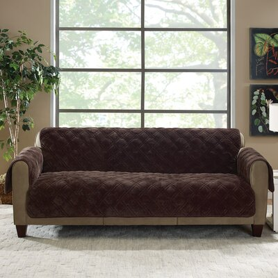 Plush Comfort Sofa Slipcover Color: Chocolate